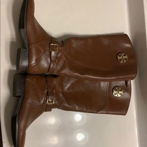 Tory Burch Tall(below the knee)Brown Leather Boots